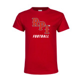 Youth Red T Shirt-Football