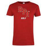 Ladies Red T Shirt-Golf