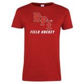 Ladies Red T Shirt-Field Hockey