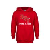 Youth Red Fleece Hoodie-Track & Field