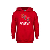 Youth Red Fleece Hoodie-Swimming & Diving