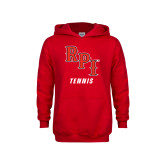 Youth Red Fleece Hoodie-Tennis