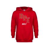 Youth Red Fleece Hoodie-Golf