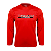 Performance Red Longsleeve Shirt-Rensselaer Engineers