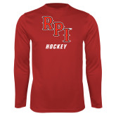 Performance Red Longsleeve Shirt-Hockey