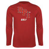 Performance Red Longsleeve Shirt-Golf
