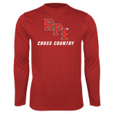 Syntrel Performance Red Longsleeve Shirt-Cross Country