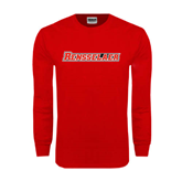 Red Long Sleeve T Shirt-Rensselaer