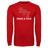Red Long Sleeve T Shirt-Track & Field