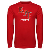 Red Long Sleeve T Shirt-Tennis