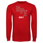 Red Long Sleeve T Shirt-Golf