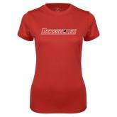 Ladies Syntrel Performance Red Tee-Rensselaer