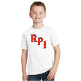 Youth White T Shirt-RPI