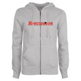 ENZA Ladies Grey Fleece Full Zip Hoodie-Rensselaer