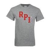 Grey T Shirt-RPI Distressed
