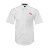 White Twill Button Down Short Sleeve-RPI