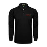Black Long Sleeve Polo-Rensselaer