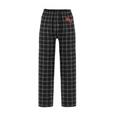 Black/Grey Flannel Pajama Pant-RPI