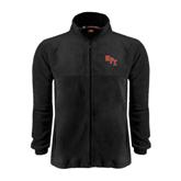 Fleece Full Zip Black Jacket-RPI