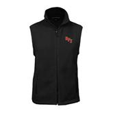 Fleece Full Zip Black Vest-RPI