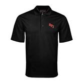 Black Mini Stripe Polo-RPI