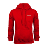 Red Fleece Hoodie-Rensselaer