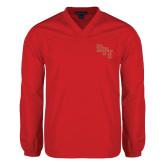 V Neck Red Raglan Windshirt-RPI
