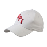 White Heavyweight Twill Pro Style Hat-RPI