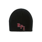 Black Knit Beanie-RPI