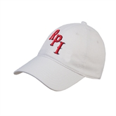 White Twill Unstructured Low Profile Hat-RPI