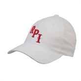 White OttoFlex Unstructured Low Profile Hat-RPI
