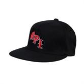 Black OttoFlex Flat Bill Pro Style Hat-RPI