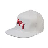 White OttoFlex Flat Bill Pro Style Hat-RPI