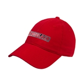 Red Twill Unstructured Low Profile Hat-Rensselaer