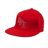 Red OttoFlex Flat Bill Pro Style Hat-RPI