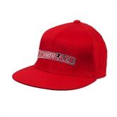 Red OttoFlex Flat Bill Pro Style Hat-Rensselaer