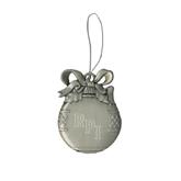Silver Bulb Ornament-RPI Engraved