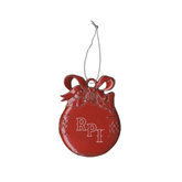 Red Bulb Ornament-RPI Engraved