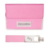 Business Card Case and Key Ring Set Pink-Rensselaer Engraved