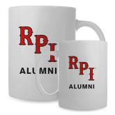 Alumni Full Color White Mug 15oz-RPI