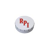White Round Peppermint Clicker Tin-RPI