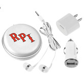 3 in 1 White Audio Travel Kit-RPI