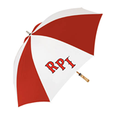 62 Inch Red/White Vented Umbrella-RPI