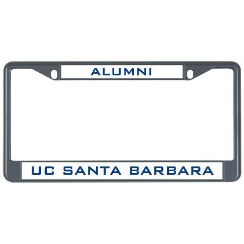 alumni metal license plate frame in black alumni
