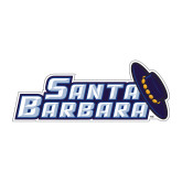 Medium Decal-Santa Barbara with Hat, 8 in. wide