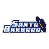 Large Decal-Santa Barbara with Hat, 12 in. wide