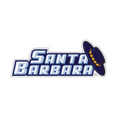 Small Decal-Santa Barbara with Hat, 6 in. wide