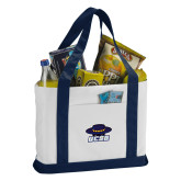 Contender White/Navy Canvas Tote-Primary