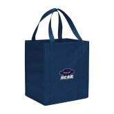 Non Woven Navy Grocery Tote-Primary