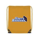 Gold Drawstring Backpack-Santa Barbara with Hat
